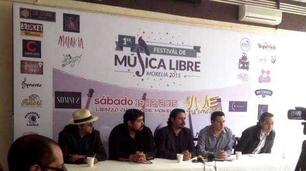 El próximo 19 de Diciembre, el 1er Festival de Música Libre en Morelia