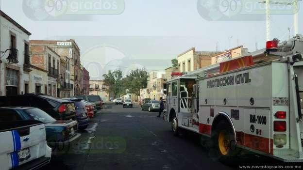 Evacúan escuela por fuerte olor a gas, en pleno Centro Histórico de Morelia