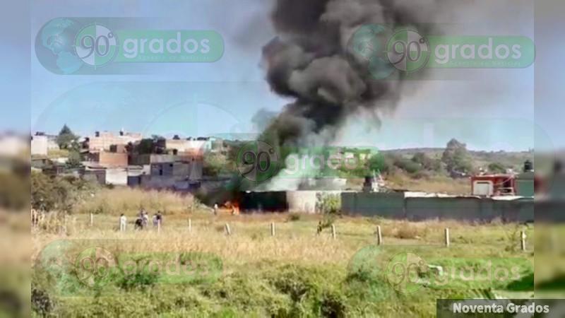 Se registra incendio en Morelia