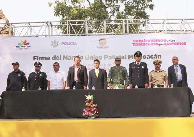 Transfiere Pátzcuaro mando de la Policía Municipal al estado