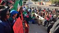 Se manifiestan contra la Caravana Migrante en Tijuana