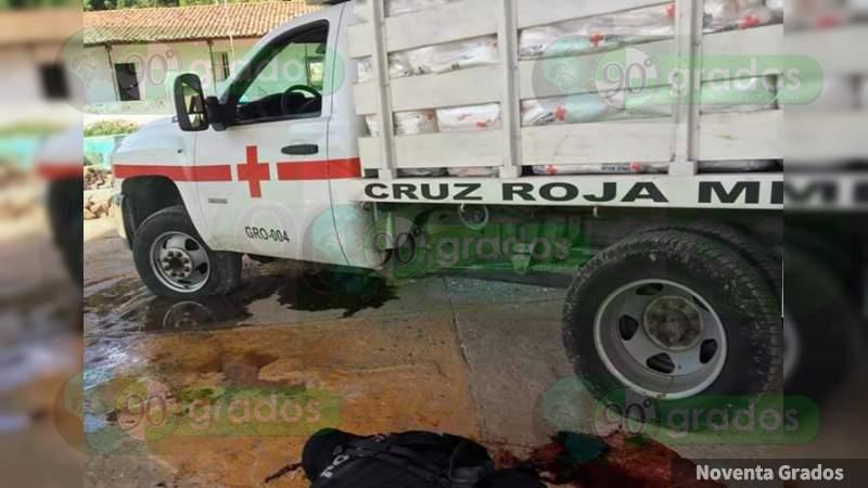 Condena Cruz Roja Mexicana asesinato de personal humanitario