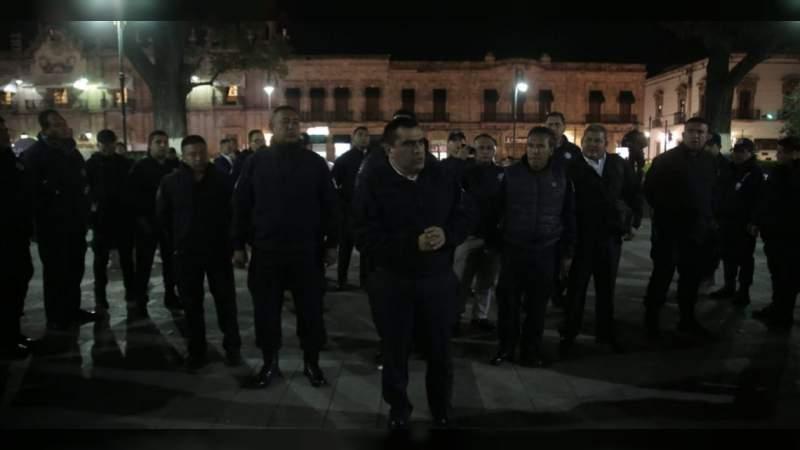 Instalan operativo de seguridad por desfile del 20 de noviembre en Morelia