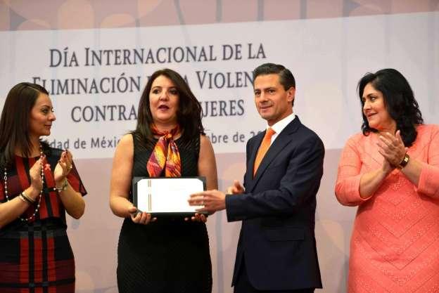 Encabeza EPN conmemoración del Día Internacional de la Eliminación de la Violencia contra la Mujer