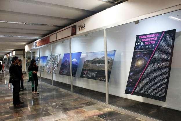 """Exposición """"Transborda el universo en el metro"""" llega a Morelia"""