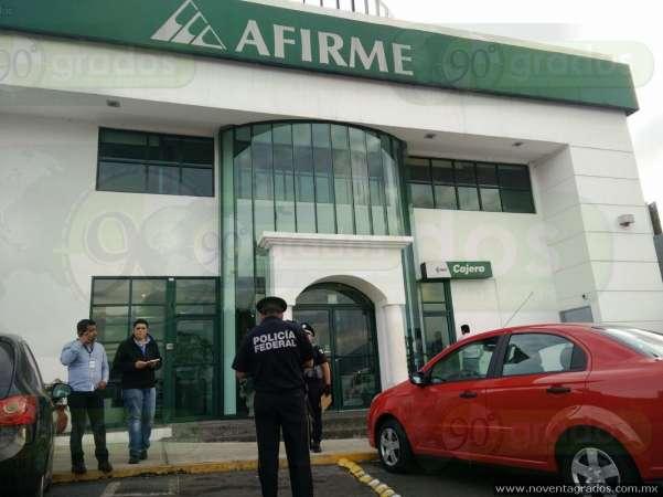 Asaltan banco en plaza de Morelia