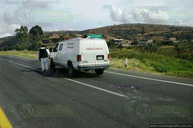 """Muere hombre arrollado por auto """"fantasma"""" en Tarímbaro, Michoacán"""