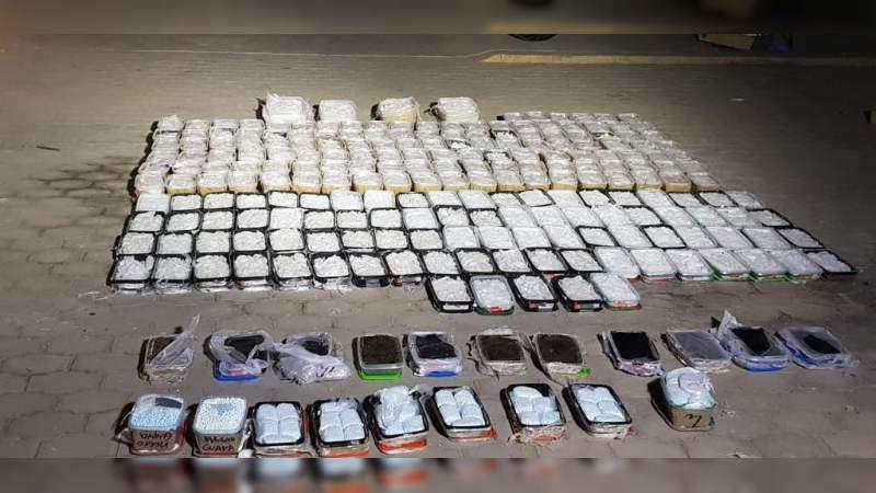 Aseguran en Baja California casi dos toneladas de marihuana, heroína, metanfetamina y cocaína
