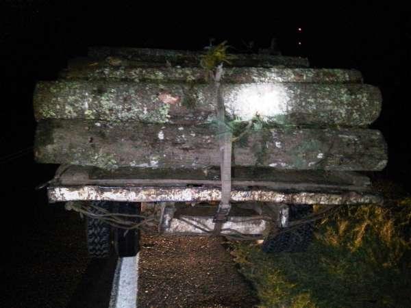 Detienen a tres con vehículos y madera ilícita en Tuxpan
