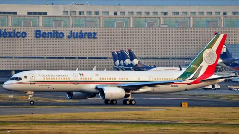 Llega avión presidencial mexicano a EU