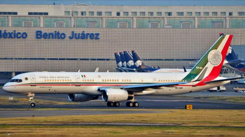 Avión Presidencial saldrá de México este lunes