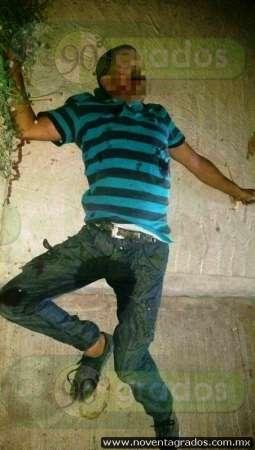 De varios balazos, ejecutan a sujeto en calles de Buenavista