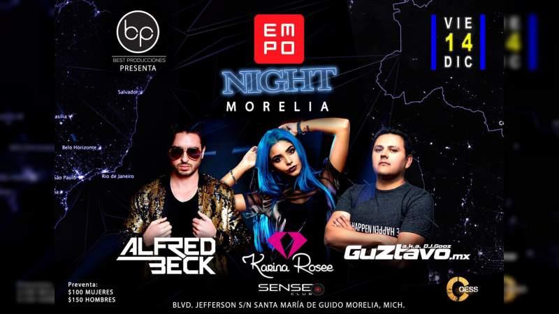 """La música electrónica regresa a Morelia con la """"EMPO Night"""""""