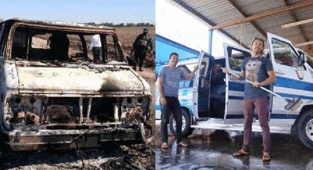 Localizan en Sinaloa camioneta calcinada con dos cuerpos en su interior; serían turistas australianos