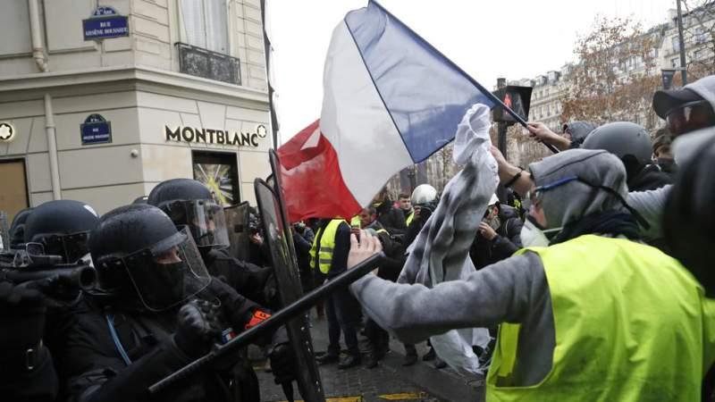 600 detenidos en protesta de chalecos amarillos en Francia