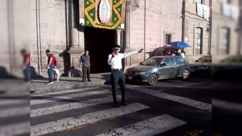 Cerrarán vialidades este lunes en Morelia por festividades Guadalupanas
