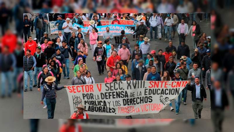Vialidades que se verán afectadas este martes por manifestaciones de la CNTE
