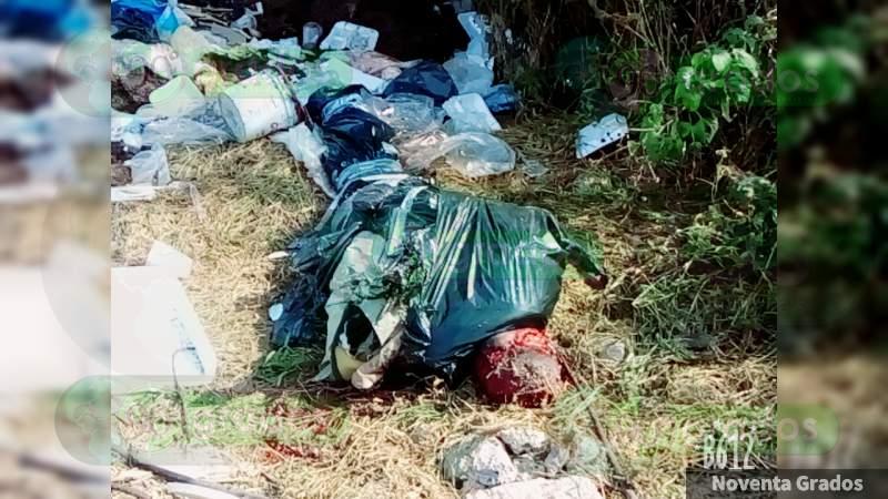 Embolsado y amarrado, dejan cuerpo en Celaya, Guanajuato