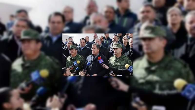 Estrategia de Seguridad Nacional contempla 3 mil 500 policías militares para Michoacán, mil 400 en una primera etapa