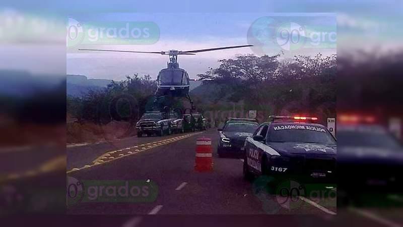 """Tras persecución con helicóptero detienen a """"halcón"""" del crimen organizado, en Nueva Italia"""