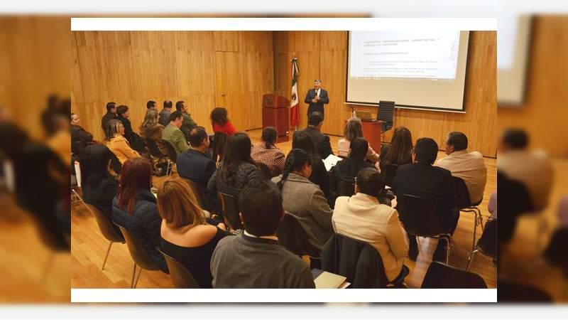 Realizan conferencia sobre responsabilidades administrativas en Poder Judicial de Michoacán