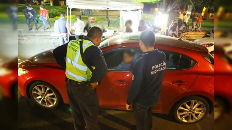 Operarán dos puestos de mando del alcoholímetro en Morelia