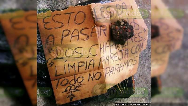 Dejan cabeza cercenada y narcomensaje sobre la Celaya - Salvatierra, en Guanajuato