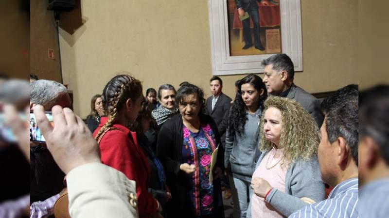 Diputada federal María Chávez propone agenda de trabajo con mujeres de Michoacán