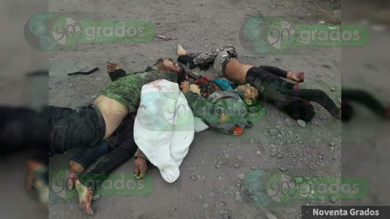 Ocho muertos en enfrentamientos en Buenavista, Michoacán