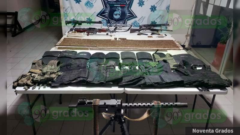 Abate PE y Ejército a sicario; aseguran armas y vehículos en Petatlán, Guerrero