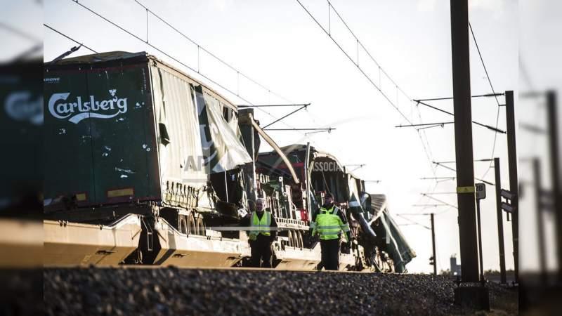 Accidente de trenes en Dinamarca deja seis muertos y 16 heridos