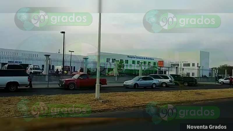 Balean hospital, chocan con policías y se dan a la fuga, en Acámbaro, Guanajuato