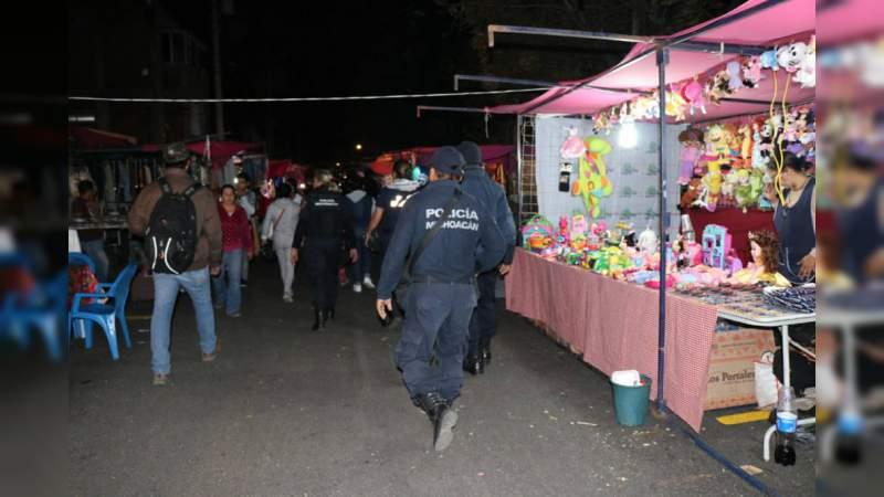 Policía de Morelia vigila a los Reyes Magos durante sus compras