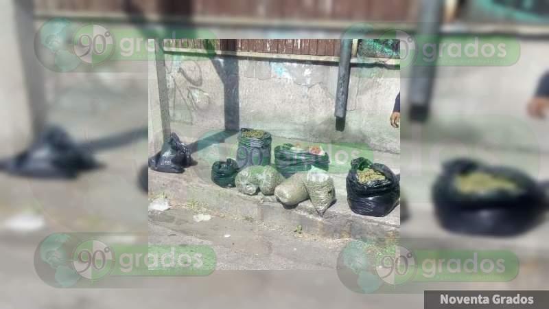 Detienen a tres con 10 costales de mota en Tepito, Ciudad de México