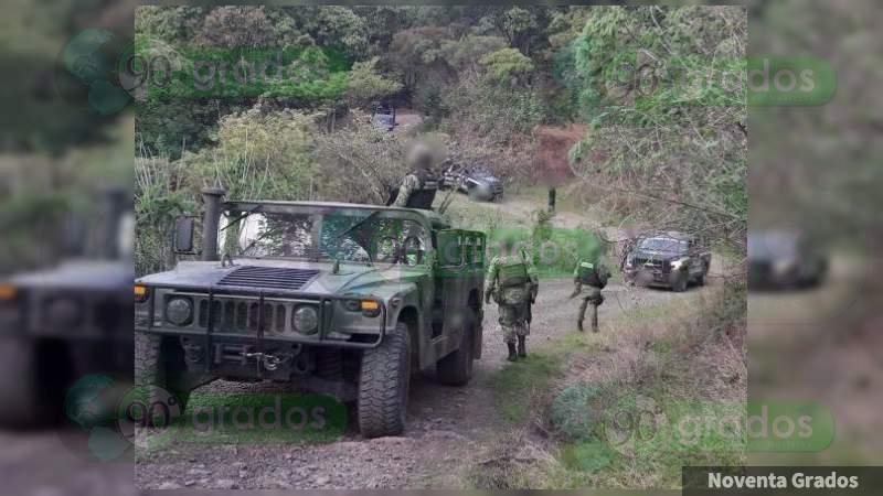 Apatzingán: Reportan balaceras y bloqueos en Pinzándaro y Santa Ana, Michoacán
