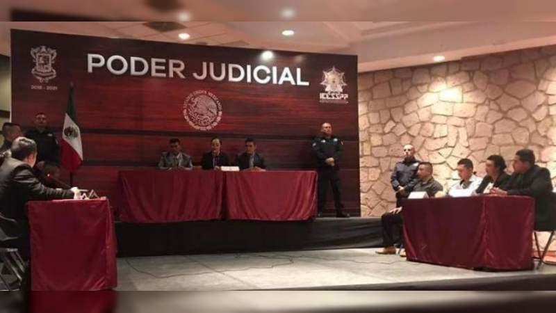 Capacita IEESSPP a Policía Municipal de Zitácuaro en Juicios Orales