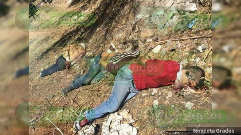 Dejan a torturados, uno muerto, sobre terracería en Iguala, Guerrero