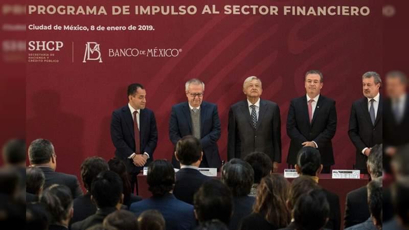 Presentan Programa de Impulso al Sector Financiero