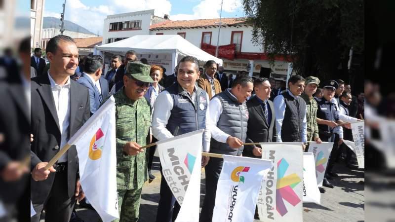 Arranca Gobernador operativo de Coordinación Regional en materia de Seguridad en Uruapan
