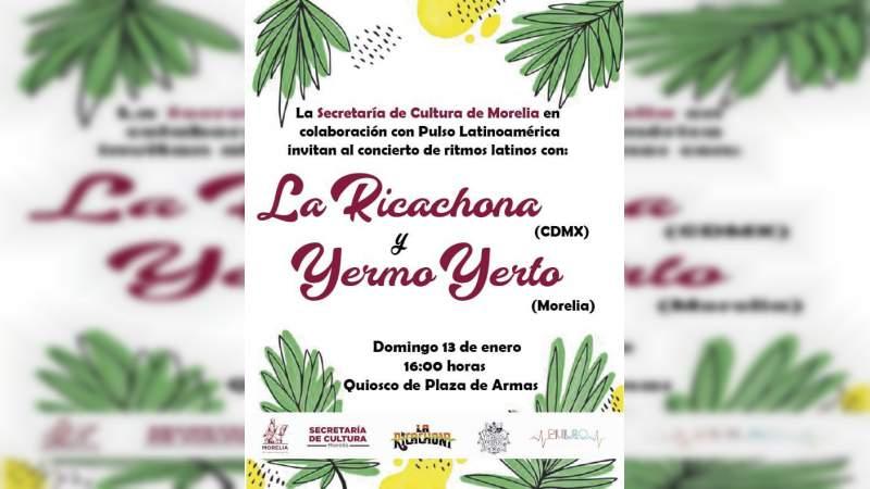 SeCultura Morelia invita este fin, a concierto en Plaza de Armas
