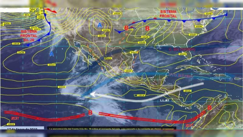 Pronóstico del clima para este jueves 17 de enero