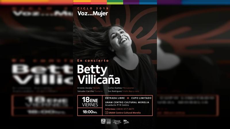 Presenta Betty Villicaña concierto con aires latinoamericanos