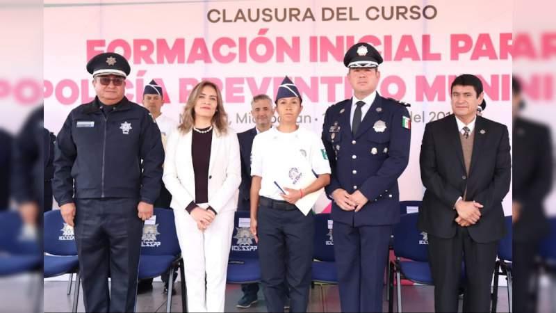Manifiesta IEESSPP voluntad de aportar mejores policías para Morelia