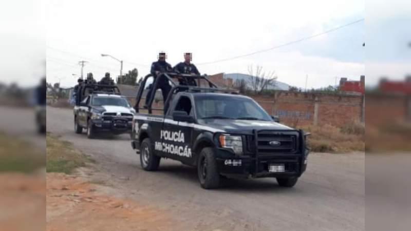 Muere presunto delincuente al enfrentar a Policías en Tlazazalca, Michoacán