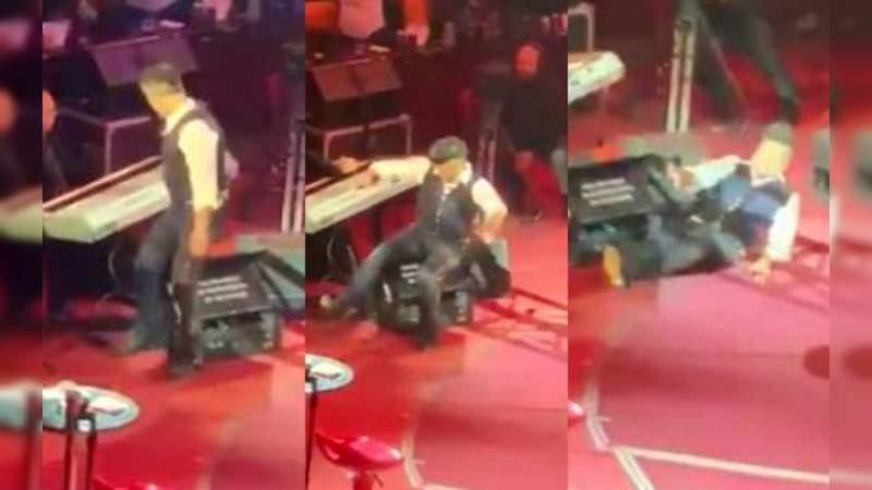 Alejandro Fernández se cae de borracho en pleno concierto