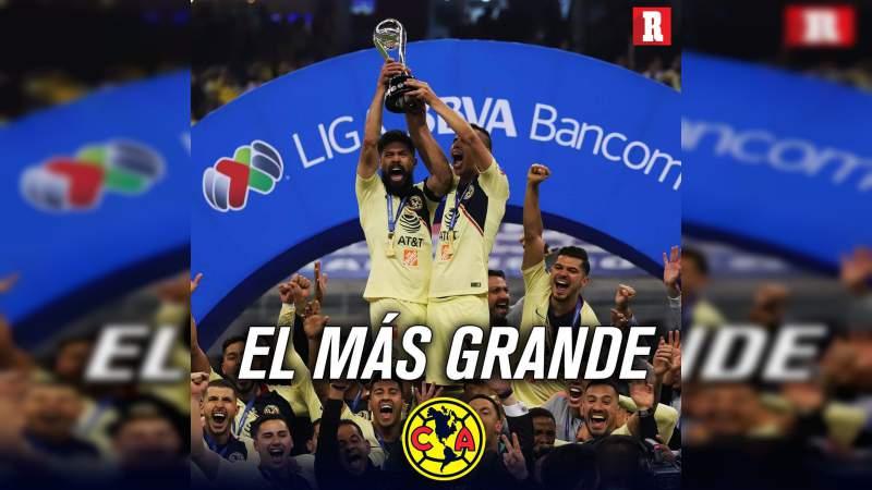 Nombran al América mejor club mexicano de la historia