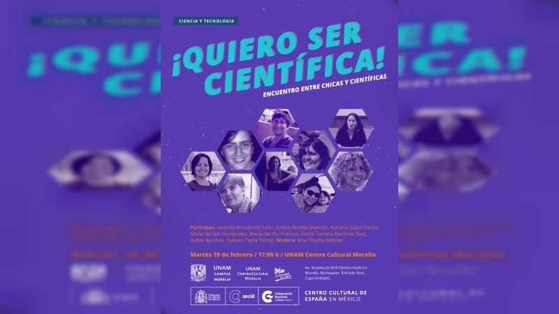 """""""Quiero ser Científica"""" Encuentro entre chicas y científicas"""