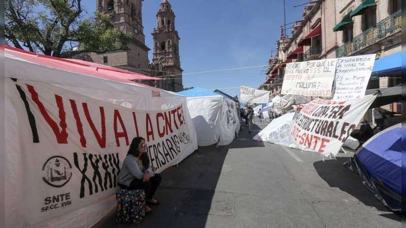 Gobierno de Michoacán sin dar solución a las demandas de la CNTE