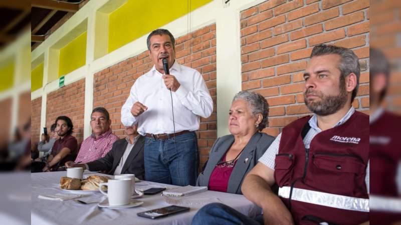 Morena será quien releve al Sol Azteca en Michoacán: Morón