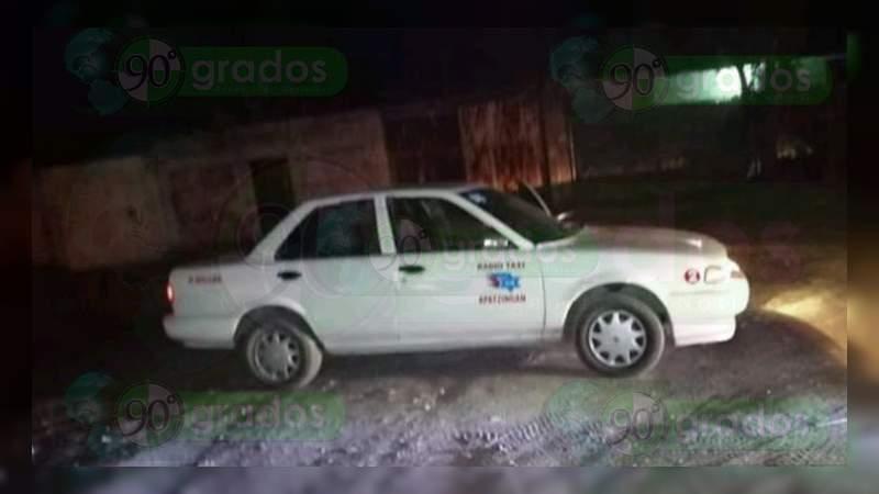 Muere taxista que fue baleado en asalto en Apatzingán